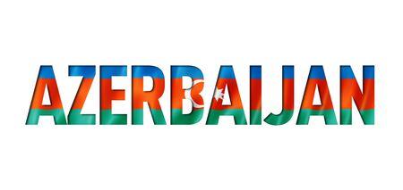 azerbaijani flag text font. azerbaijan symbol background Reklamní fotografie