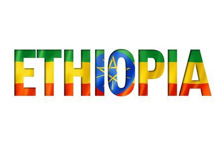 ethiopian flag text font. ethiopia symbol background