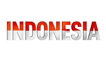 indonesian flag text font. indonesia symbol background Reklamní fotografie - 133569492