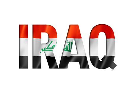 Iraqi flag text font. Iraq symbol background Reklamní fotografie - 133569501