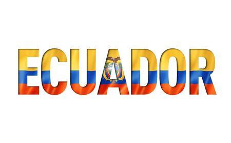 ecuadorian flag text font. ecuador symbol background