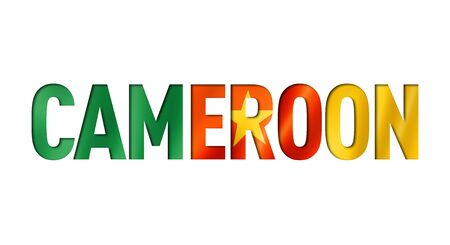 cameroonian flag text font. cameroon symbol background