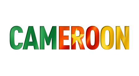 cameroonian flag text font. cameroon symbol background Reklamní fotografie - 133569538