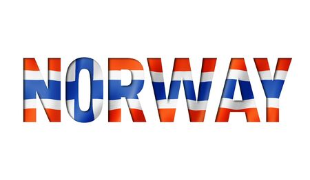 norwegian flag text font. norway symbol background Reklamní fotografie