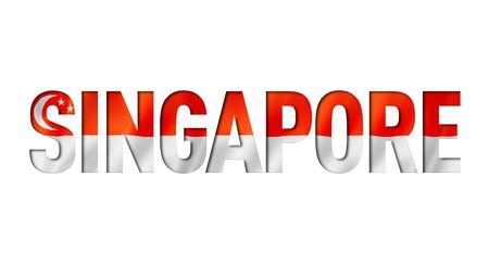 singaporean flag text font. singapore symbol background Reklamní fotografie - 133569585