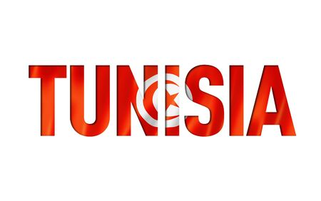 tunisian flag text font. tunisia symbol background
