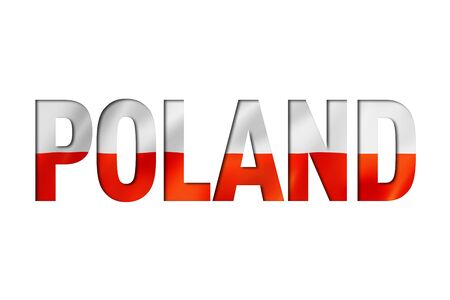 polish flag text font. poland symbol background