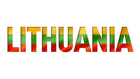 lithuanian flag text font. lithuania symbol background Reklamní fotografie - 133569645