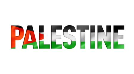 palestinian flag text font. palestine symbol background Reklamní fotografie - 133569670