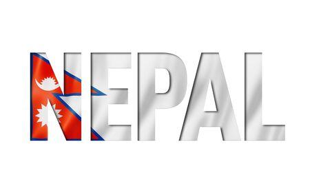 nepalese flag text font. nepal symbol background Reklamní fotografie - 133569675