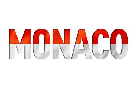 monaco flag text font. Monte Carlo symbol background Reklamní fotografie - 133569677