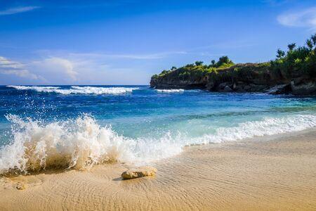 Dream beach in Nusa Lembongan island, Bali, Indonesia Stock fotó - 133569681