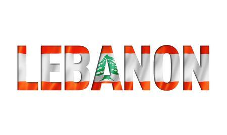 lebanese flag text font. lebanon symbol background