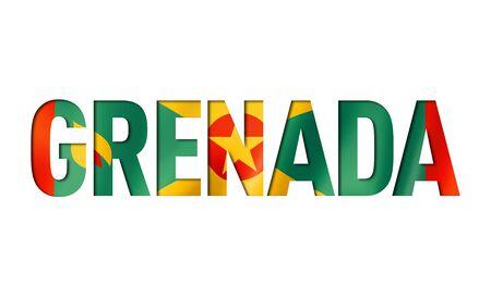 grenada flag text font. nation symbol background Reklamní fotografie