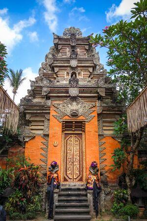 Puri Saren Palace entrance door in Ubud, Bali, Indonesia
