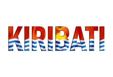 kiribati flag text font. nation symbol background Reklamní fotografie - 133569762