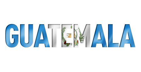 guatemalan flag text font. guatemala symbol background Reklamní fotografie - 133569767