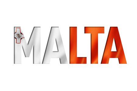 maltese flag text font. malta symbol background