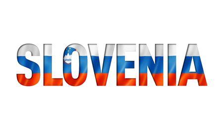 slovenian flag text font. slovenia symbol background