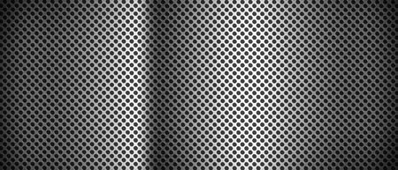 Silver brushed metal grid. Banner background texture wallpaper