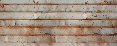 old rusty sheet metal wall, banner background wallpaper Banque d'images - 142849937