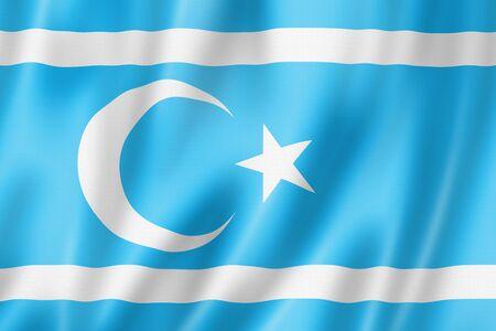 Iraqi Turkmens ethnic flag 3D illustration Banque d'images - 142990343