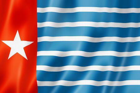 Papua West New Guinea aboriginal flag. 3D illustration Banque d'images - 142838308