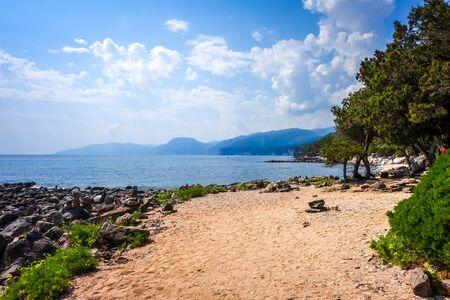 Sos Dorroles beach in the Golf of Orosei, Sardinia, Italy Banque d'images - 143001645