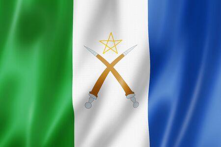 Afar people ethnic flag, Africa. 3D illustration Banque d'images - 142866068