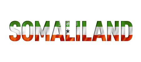 Somaliland flag text font. National symbol background Stockfoto