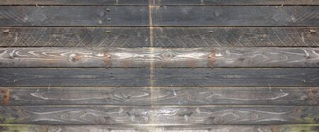 Old wood board painted grey, banner background texture Banque d'images - 142865984