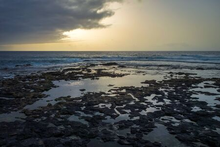 Ocean view at sunset in Santo Antao island, Cape Verde, Africa Banque d'images - 142865232