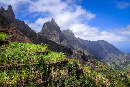 Paul Valley landscape in Santo Antao island, Cape Verde, Africa Banque d'images - 142865228