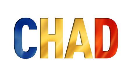 Chadian flag text font. chad symbol background