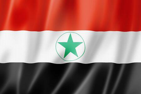 Ahwazi Arabs ethnic flag, Iran. 3D illustration