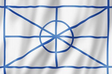 Aromanian ethnic flag, Europe. 3D illustration Banque d'images - 143236258