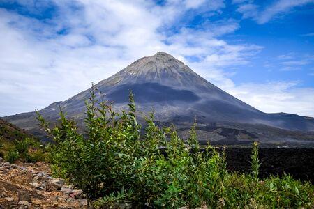 Pico do Fogo volcano in Cha das Caldeiras, Cape Verde
