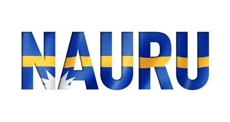 Nauru flag text font. National symbol background Stockfoto