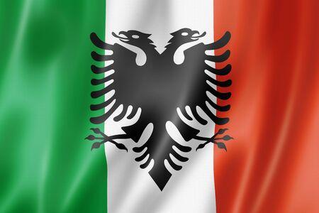 Italian Arberesh ethnic flag, Italia. 3D illustration