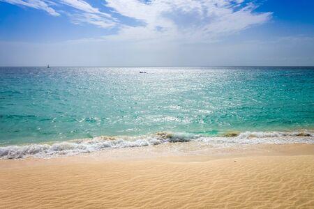 Ponta preta beach and dune in Santa Maria, Sal Island, Cape Verde, Africa Stockfoto