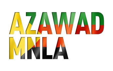 Azawad MNLA flag text font. National symbol background