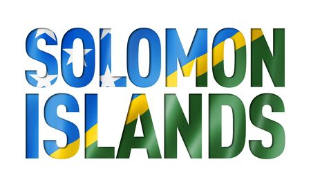 Solomon Islands flag text font. National symbol background
