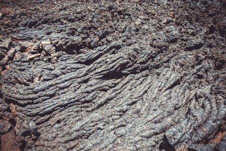 Lava flow detail on Pico do Fogo volcano, Cape Verde, Africa
