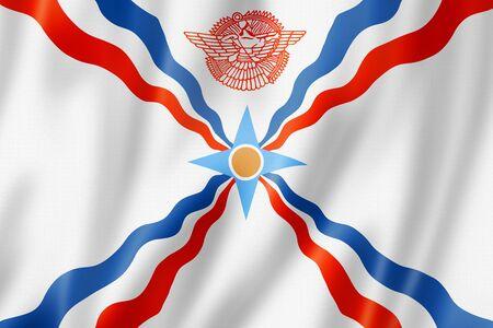 Assyrians ethnic flag. 3D illustration
