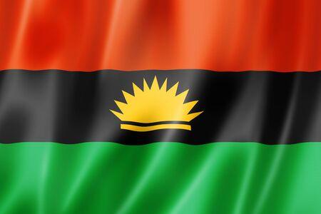 Biafra ethnic flag, Africa. 3D illustration Stockfoto