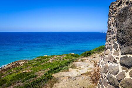 Tharros archaeological site and seascape, Oristano, Sardinia