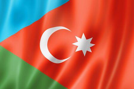 Iranian Azerbaijanis ethnic flag, Asia. 3D illustration