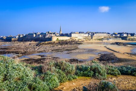 Saint-Malo city panoramic landscape in Brittany, France