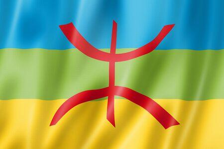 Berber ethnic flag, Africa. 3D illustration Stockfoto
