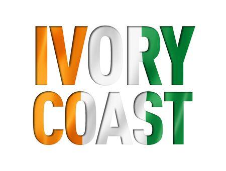 Ivorian flag text font. Ivory Coast symbol background